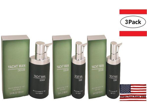 3 Pack Yacht Man Dense by Myrurgia Eau De Toilette Spray 3.4 oz for Men - Product Image