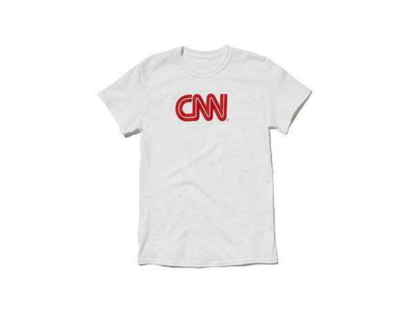 CNN Promo Tee  White M