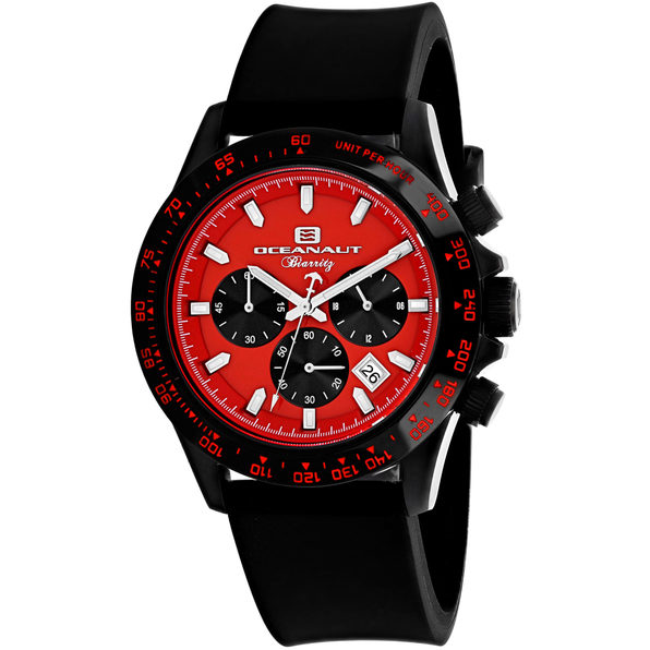 Oceanaut Men's Biarritz Red Dial Watch - OC6115R