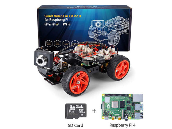 SunFounder PiCar-V Kit V2.0 for Raspberry Pi with TF Card + Raspberry Pi 4