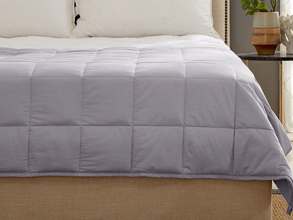 "Kathy Ireland Weighted Blanket (Silver/7 Lb, 41""x 60"")"