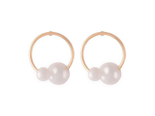 Small Pearl Post Earrings