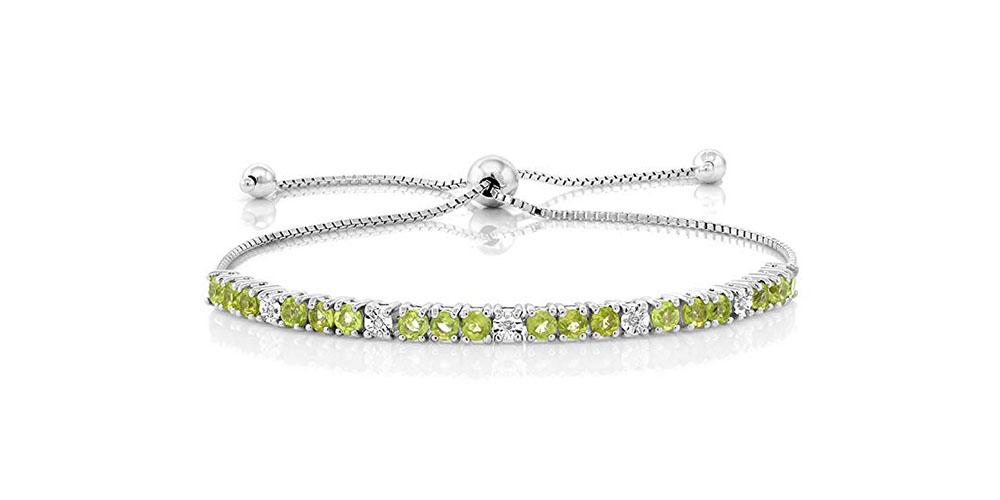 Swarovski Crystal Bolo Slider Adjustable Bracelet
