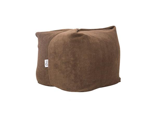 Loungie® Magic Pouf 3-in-1 Convertible Bean Bag (Brown)
