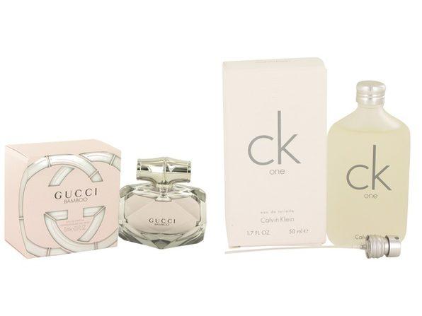 Gift set  Gucci Bamboo by Gucci Eau De Parfum Spray 2.5 oz And  CK ONE EDT Pour/Spray (Unisex) 1.7 oz
