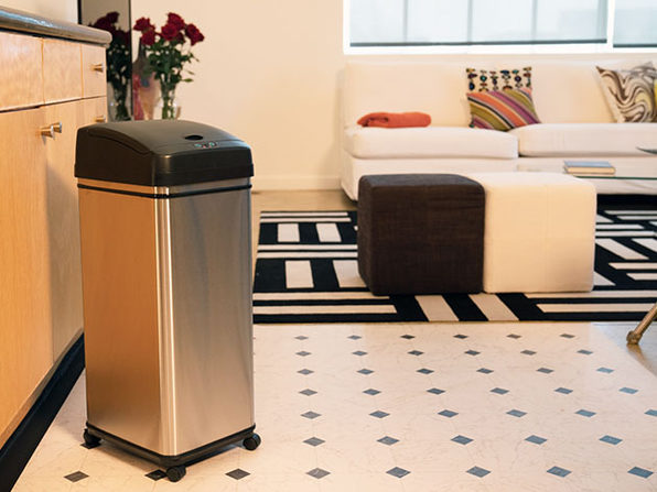 iTouchless 13-Gallon Pet-Proof Sensor Trash Can with Wheels