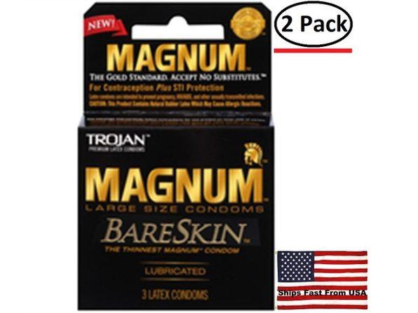 ( 2 Pack ) Trojan Magnum Bareskin - 3 Pack - Product Image