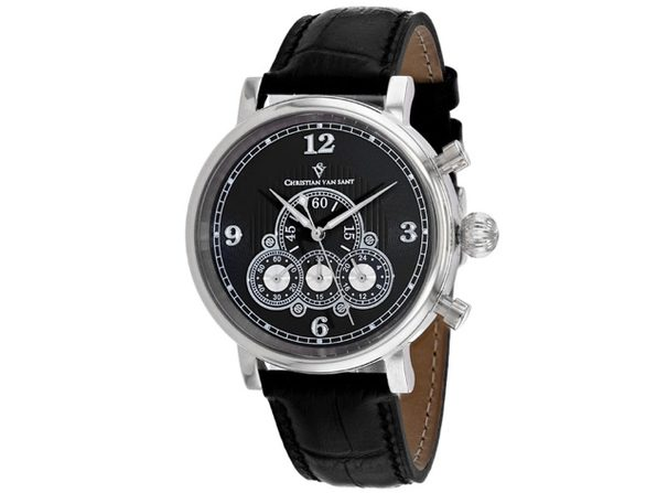Christian Van Sant Men's Black Dial Watch - CV0711