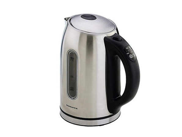 Ovente Stainless Steel 1.7L Electric Kettle with Touch Screen Control Panel