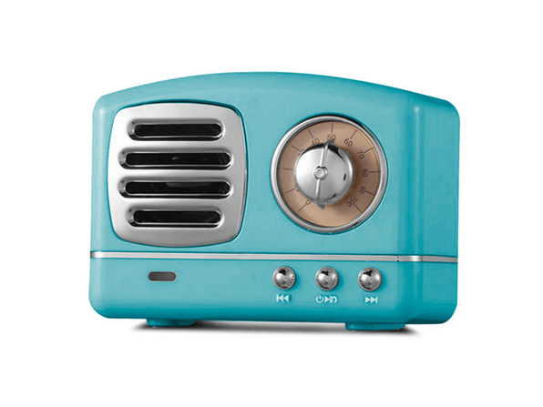 Retro Bluetooth Speaker (Blue)