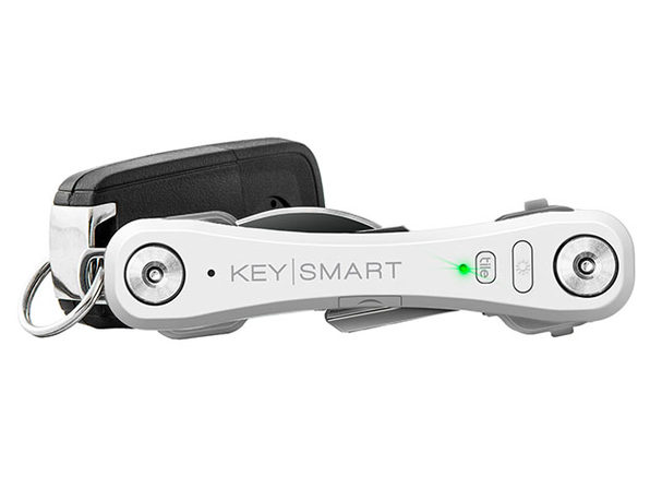 KeySmart Pro with Tile (White) + CleanTray + CleanKey Bundle