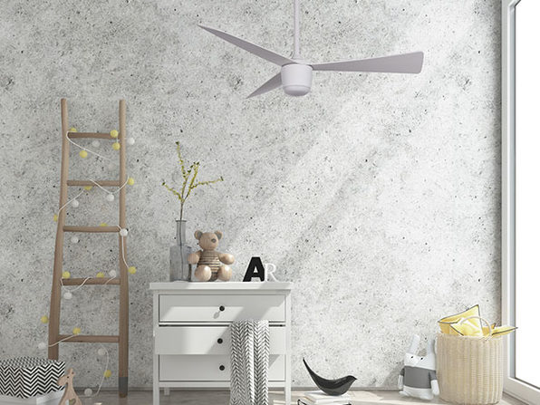 Star 7: Modern DC Motor LED Ceiling Fan (Matte White)