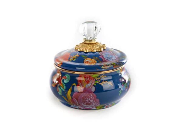 MacKenzie-Childs Flower Market Squashed Pot - Lapis - Product Image