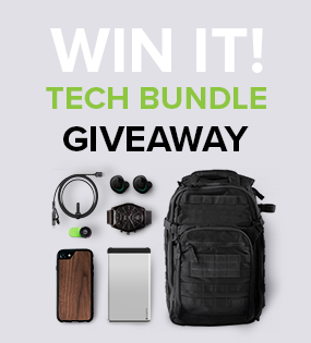 Giveaway tech bundle ad unit
