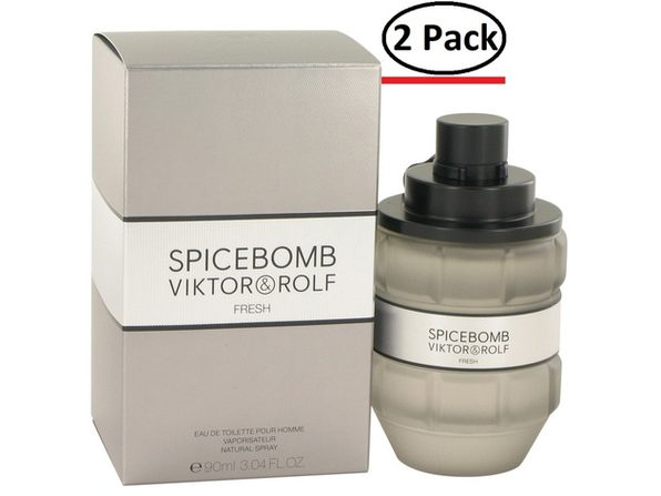 Spicebomb Fresh by Viktor & Rolf Eau De Toilette Spray 3 oz for Men (Package of 2) - Product Image