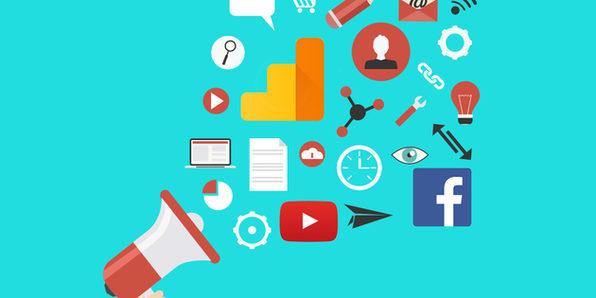 Online Marketing, Google Analytics & Social Media - Product Image