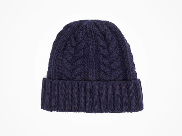 7db62738104dc Wool Cable Beanie (Indigo)