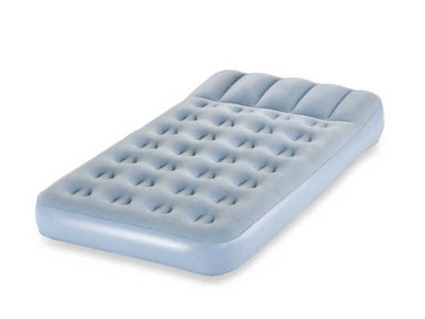 Aerobed 2000010122 Bed In A Minute Air Inflatable Mattress, Queen Size - Blue