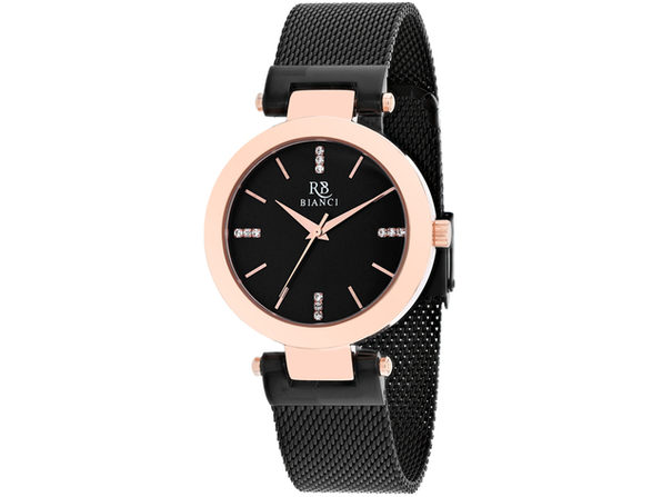 Roberto Bianci Women's Cristallo Black Dial Watch - RB0405