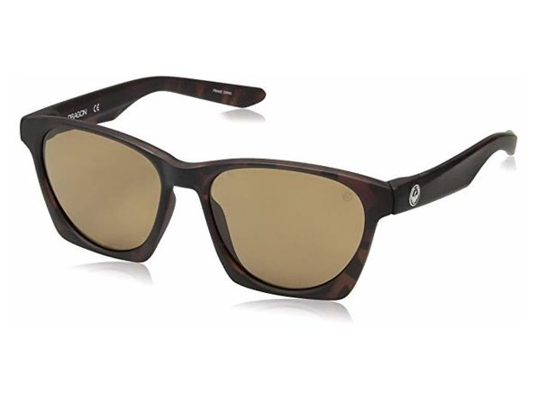 Dragon Alliance Post Up Polarized Sunglasses Tortoise Frames with Brown Lens - Brown