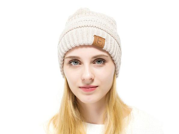 CC Chic Winter Knit Beanie (Beige)  5d8842459c7