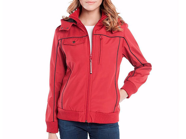 BauBax Women's Bomber Jacket (Red)