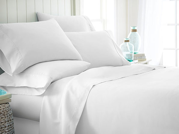 Home Collection Premium Ultra Soft 6-Piece Bed Sheet Set (White/King)