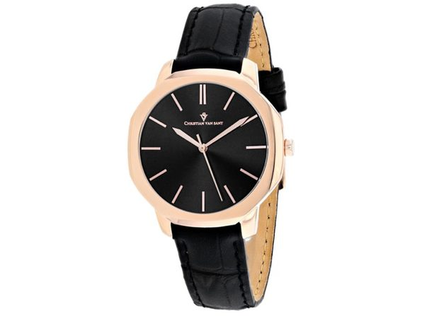 Christian Van Sant Women's Octave Slim Black Dial Watch - CV0504 - Product Image