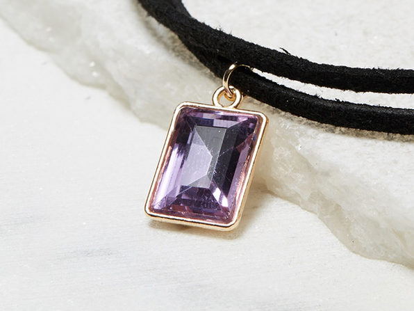 Fashionable Choker Necklace (Purple)