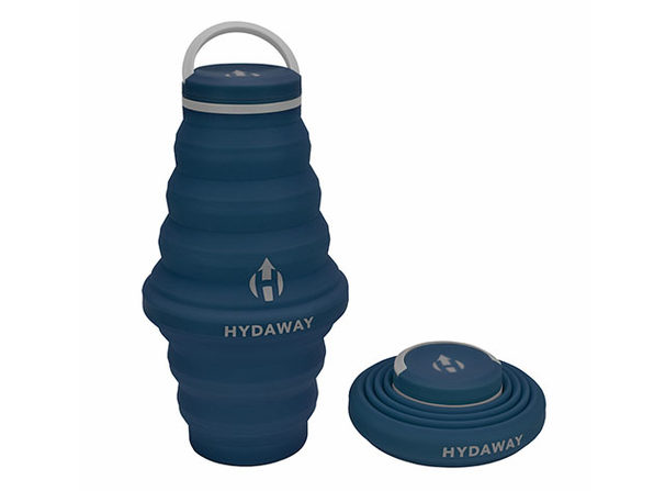Hydaway 25oz Collapsible Water Bottle with Cap Lid (Seaside Blue)