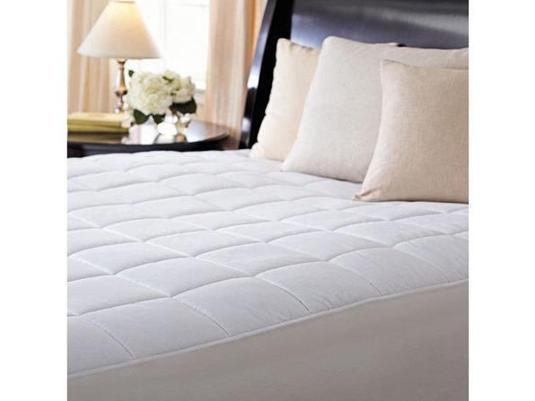 Sunbeam Premium Quilted Electric Heated Warming Mattress Pad - Full Size -  Auto Shut Off 10 Heat Settings - White
