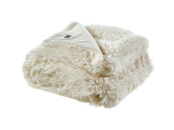 Cozy Tyme Noel Faux Lamb Fur Throw (Cream White)