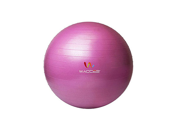 Wacces Anti-Burst  Yoga Ball with Pump - Pink, 55 cm - Product Image