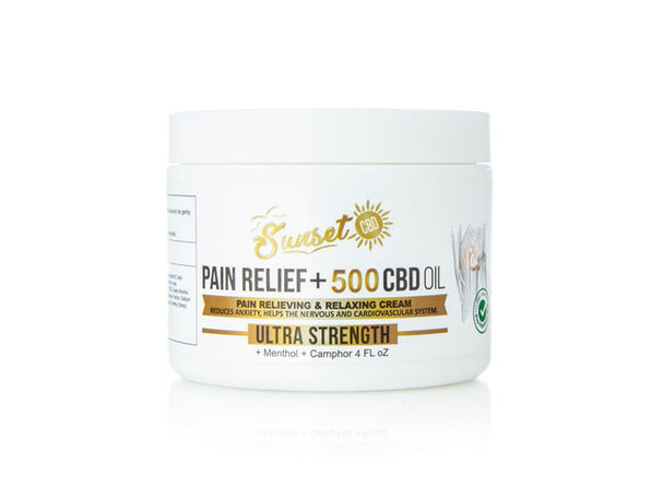 Sunset CBD Pain Relief Cream (500 Mg)