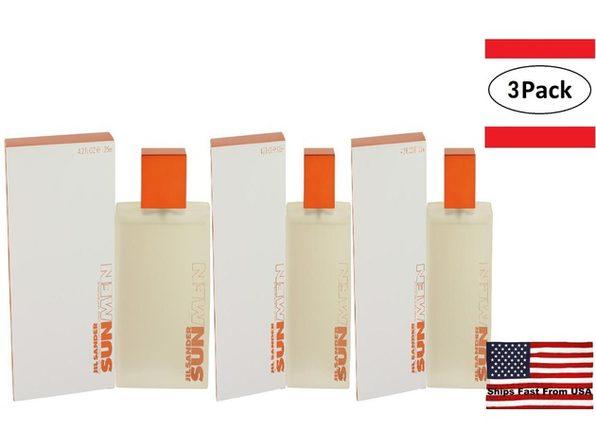 3 Pack Jil Sander Sun by Jil Sander Eau De Toilette Spray 4.2 oz for Men - Product Image