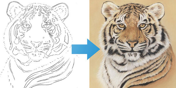 Draw a Tiger Using Just 6 Pastel Pencils - Product Image