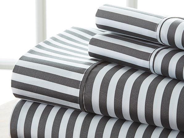 4-Piece Striped Sheet Set (Queen)