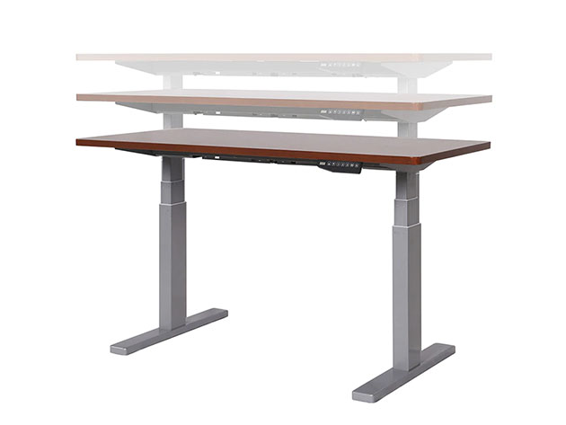 A standing desk.