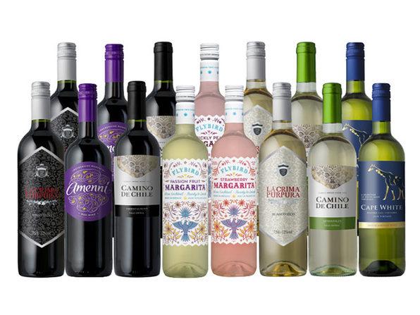 Splash Wines Tailgating Bundle: 12 Wine & 3 Margaritas Bottles