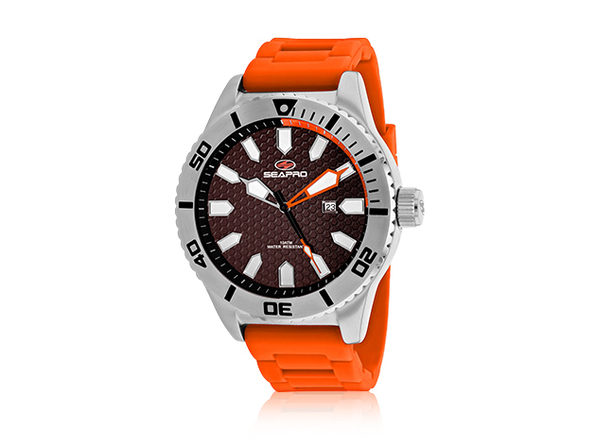 Seapro Men's Brigade Watch Brown/Orange - Product Image