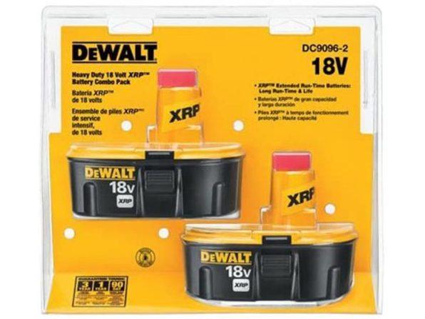 Dewalt DC9096-2 18V NiCad Pod-Style Battery, XRP, Combo Pack - Black-v63