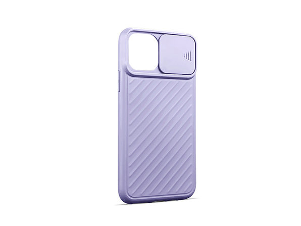 iPhone 12 mini Case with Camera Cover Purple - Product Image