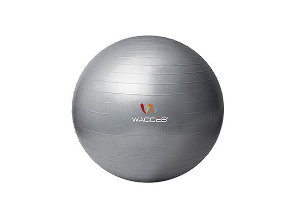 Wacces Anti-Burst  Yoga Ball with Pump - Gray, 55 cm - Product Image