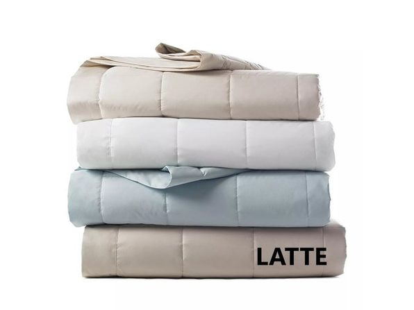 Bloomingdale's Down Alternative Asthma and Allergy Friendly 66 x 90 Inch Twin Blanket, Latte - Product Image
