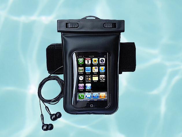 Online Auto Sales >> Waterproof Smartphone Bag With Music Out Jack + Waterproof Headphones | StackSocial