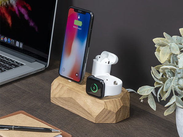 Triple Dock: 3-in-1 Apple Device Charging Station