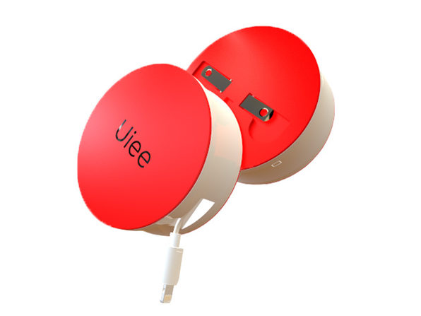 Uiee Portable Battery & Wall Charger Red (MFi Lightning) - Product Image