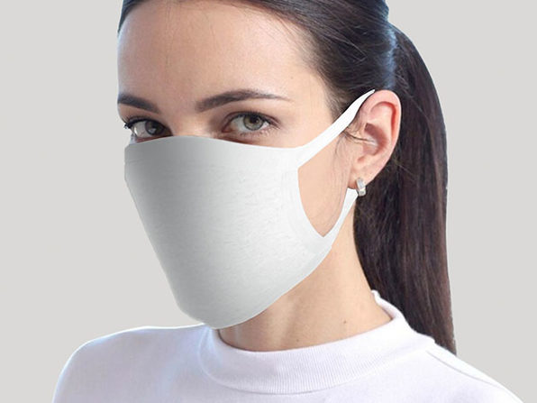 Reusable Face Masks: 2-Pack (White)