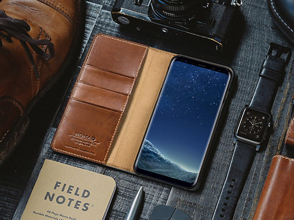 Leather Folio Wallet for Samsung Phones