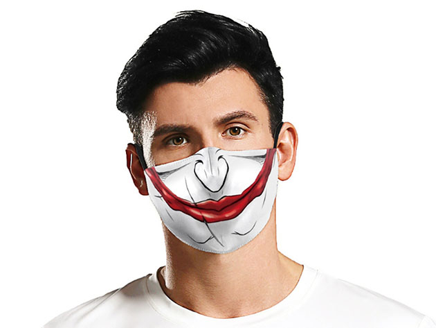 Halloween Reusable Cloth Face Mask (Magnificent Joker), on sale for $14.99 (40% off)